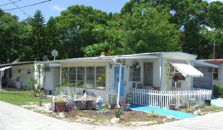 A home at the mobile home park of Florida Justice Transitions